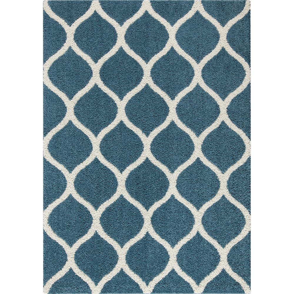 Ogee 2 Color Shag Overcast Blue Area Rug Maples Rugs