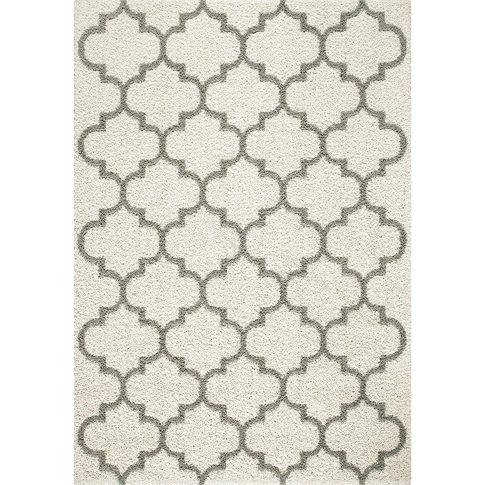 Trellis 2 Color Shag Cream Area Rug