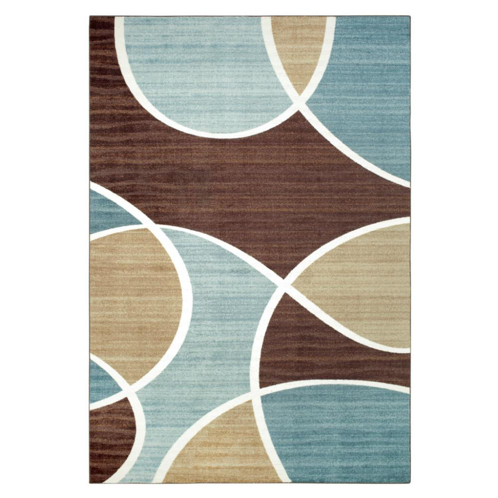 Geo Waves Aqua Area Rug
