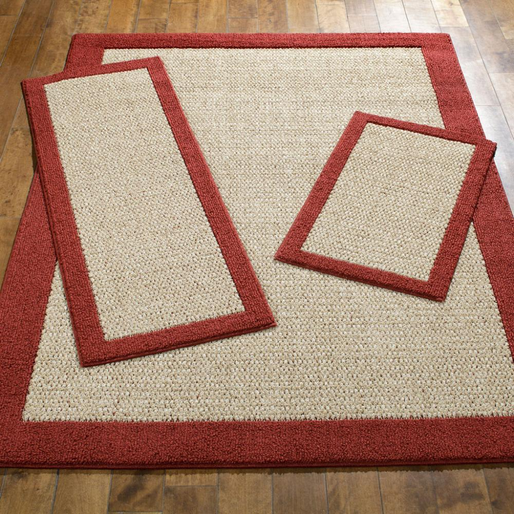 Faux Sisal Cranberry Area Rug Set Maples Rugs